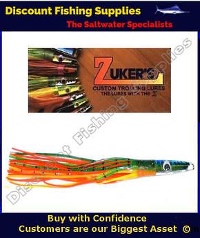 """Zuker 11"""" - Vinyl Skirt Trolling Lure - ZM3.5 Bleeding Dorado"""