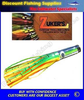 "Zuker 13"" - Vinyl Skirt Marlin Lure - ZM5.5 Orange Dorado"