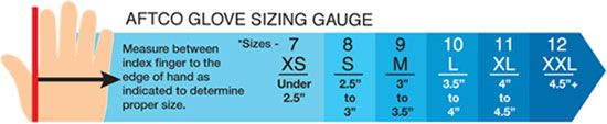 aftco glove sizing