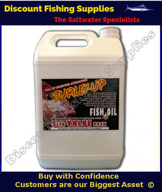 Burley up fish oil 5litres fish oil fish attractant for Wholesale fishing tackle outlet