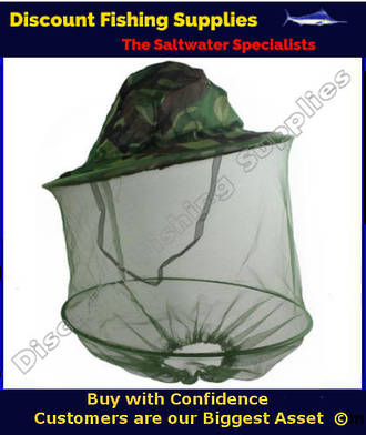 Camo Hat With Bug Screen
