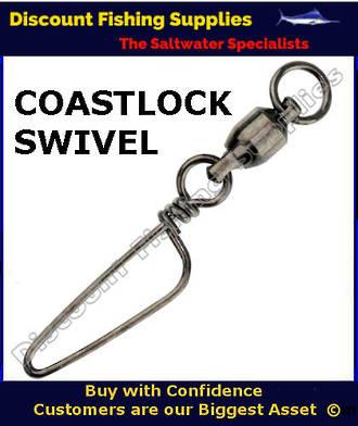 Coastlock swivel 5 coastlock swivels fishing tackle for Wholesale fishing tackle outlet