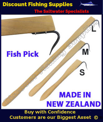 Wooden fish pick gaff 1010mm fish pick fish gaff for Wholesale fishing tackle outlet