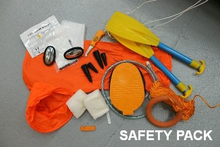 ocean safety 4 man liferaft safety pack
