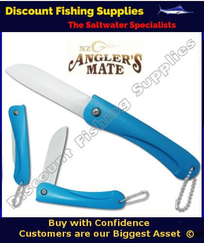 Anglers mate folding ceramic pocket knife ceramic knife for Wholesale fishing tackle outlet