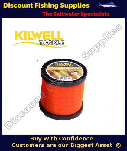 Kilwell igfa tournament fishing line 37kg x 1000m orange for Orange fishing line