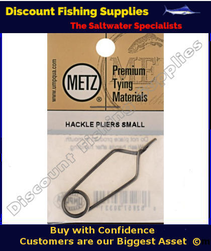Metz hackle pliers small fly tying tools hackle for Wholesale fishing tackle outlet