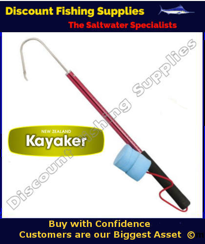 Nz kayaker kayak gaff with float kayak gaff fish for Wholesale fishing tackle outlet
