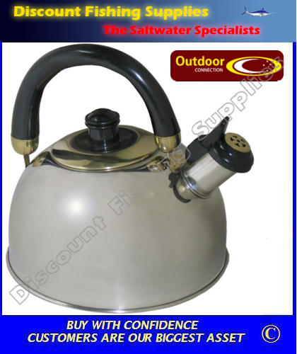 Outdoor connection stainless steel whistling kettle 2 5lt for Outdoor connection