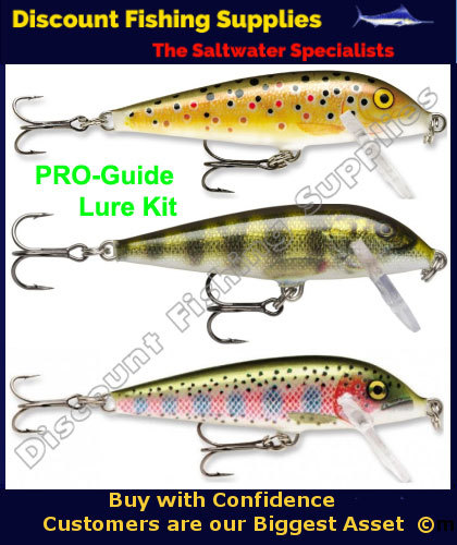 Rapala cd05 pro guide 3 pack trout lures rapala trout for Wholesale fishing tackle outlet