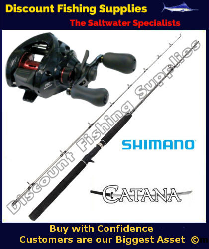 Shimano caenan 150a catana baitcaster combo 2pc shimano for Wholesale fishing tackle suppliers and manufacturers