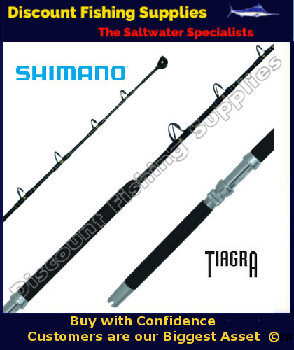 Shimano tiagra series 24kg standup game rod shimano rods for Wholesale fishing tackle outlet