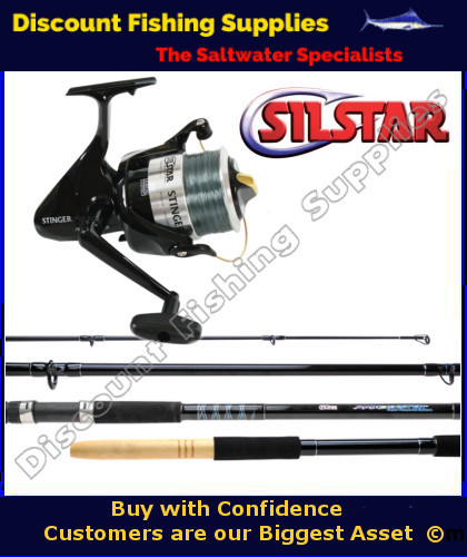 Silstar spincast stinger ss90 15 39 surf combo silstar for Wholesale fishing tackle suppliers