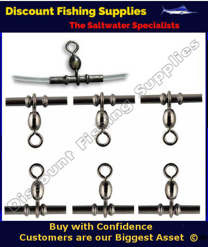 Sleeved crane swivel x 10 swivels fishing tackle for Wholesale fishing tackle outlet