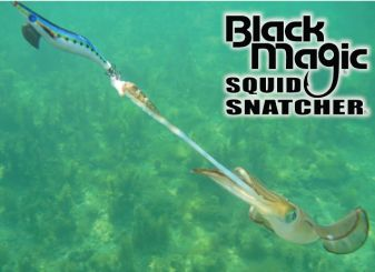 BLACK MAGIC SQUID SATCHER SQUID JIG IN ACTION