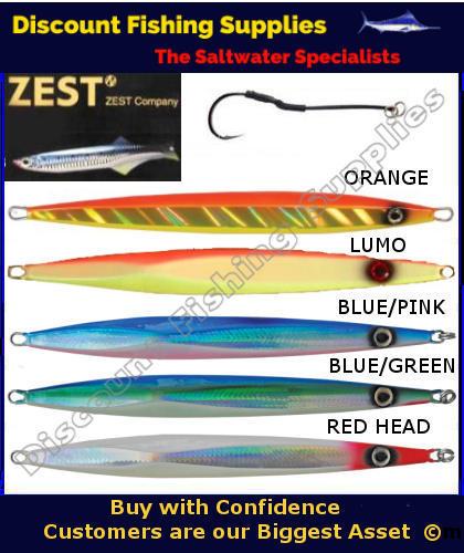 Zest super deep jig 300gr zest jigs discount fishing for Wholesale fishing tackle suppliers
