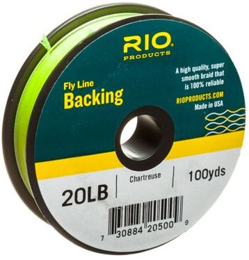 rio fly line backing chartreuse
