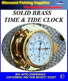 TIME & TIDE CLOCK - POLISHED SOLID BRASS