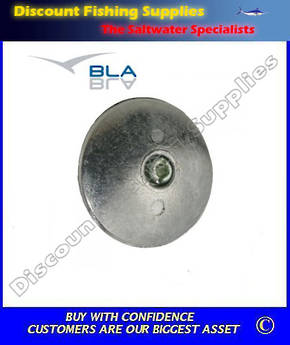 Martyr Zinc Rudder Anodes with Fixing Hole 71mm Diameter (Pair)