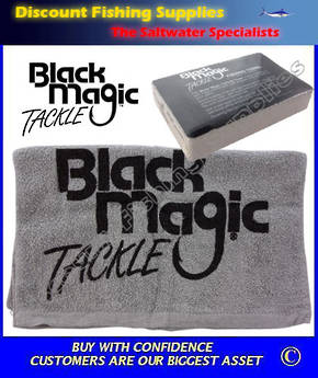 FREE Black Magic Fishing Towel (conditions apply)