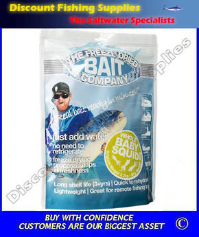 Freeze Dried Whole Baby Squid Bait 50gr (Original Weight 350gr)