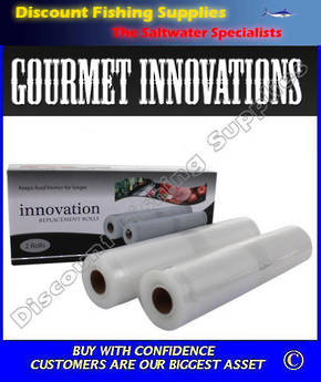 Vacuum Sealer Rolls 28cm x 5m Pack of 2