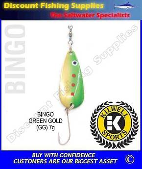 Kilwell Spinner - Bingo Green/Gold 7g (Bulk Pack 10)