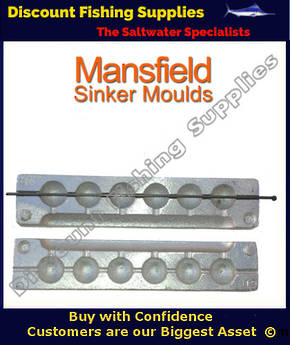 Sinker Mould - Ball Sinker - 6 X 1 and 1/2oz (019)
