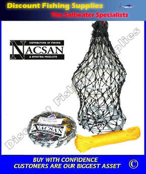 Nacsan Collapsible Berley Cage - Medium WITH Rope