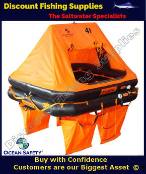 Ocean Safety 4 Person Liferaft with Valise (carry-on)