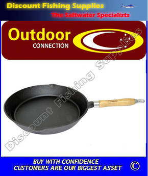 Outdoor Connection 30cm Cast Iron Fry Pan