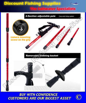 Outt Retractable Hiking Stick With Camera Mount