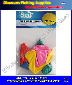 Sea Harvester Livebait Balloons (5 Pack)