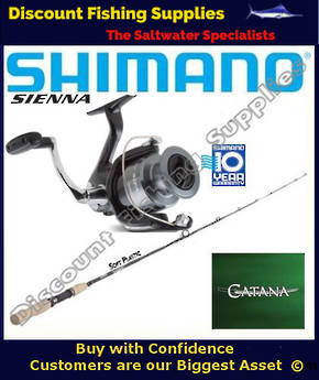Shimano Sienna 4000FE / Catana Softbait Set 2pc