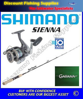Shimano Sienna 2500FD / Catana Softbait Set 2pc