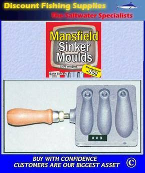 Sinker Mould - Open Cavity Combo 3,4 & 5oz