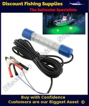 Submersible LED Fishing Light Green 12v
